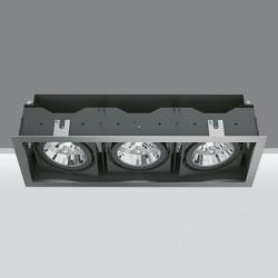 Deep Frame Recessed adjustable of 3 bodies ópticos 2x35/70W HIT (C dimmable T) + 75W 12 V QR-111