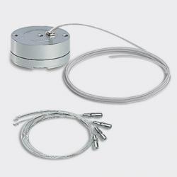 Juego de Cables y Base para Suspensión con cable de Alimentación L=2000 Mm