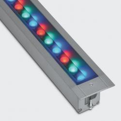 Linealuce 30 LED RGB dali with cambio dinámico of colour (39 Wmax) óptica wall washer
