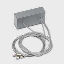 Base de Alimentación con Cables de Suspensión (para Versiones regulables y emergencia) Base de Alimentación con Cables de Suspensión (para versiones regulables y