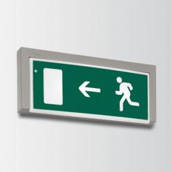 Motus luminary body Large with working always on with emergency (SA) 3h with Pictogram (indicación ruta of escape hacia the izquierda) 24W TC L