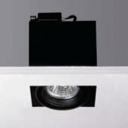 Cardan Mini 50 square recessed without Framework Gx10 HIT PAR16 35w