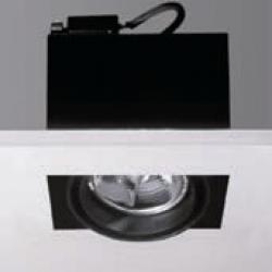 Cardan Mini 70 square recessed without Framework QR 70 BA15d 1x50w 12v