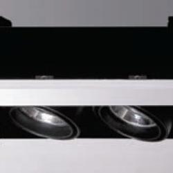 Cardan Mini 70 Recessed Doble without Framework QR 70 BA15d 2x50w 12v