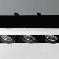 Cardan Mini 70 Recessed triple without Framework QR 70 BA15d 3x50w 12v