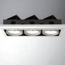 Cardan LED 3x18W (3x1200lm) Recessed Ceiling