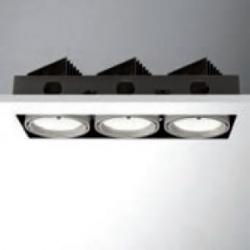 Cardan less LED 3x18W (3x1200lm) Recessed Ceiling