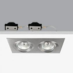 PlataDownligh Doble ø9,2x17,2cm Gx5,3 QR-CB 51 12v 50w
