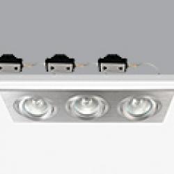 PlataDownligh triple ø9,2x27,2cm Gx5,3 QR-CB 51 12v 50w