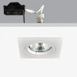 Turn & Fix Downlight Cuadrado 8,1cm GU5,3 QR-CB 51 12v 50w