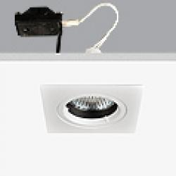 Turn & Fix Downlight Quadrada elevado 8,1cm GU5,3 QR-CB 51 12v 50w