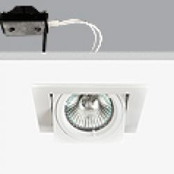 Turn & Fix Downlight Square adjustable 9,5cm G5,3 QR-CB 51 12v 50w