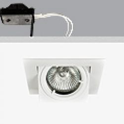 Turn & Fix Downlight Quadrada orientável elevado 9,5cm GU5,3 QR-CB 51 12v 50w