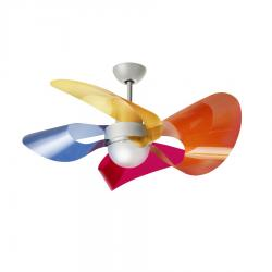 Soffio Fan with light Aspas Satin