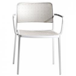 Audrey Shiny chaise avec bras Aluminium Brillant intérieur/de plein air (2 unités d´emballage)