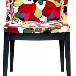 Mademoiselle sedia struttura nero Tessuto missoni