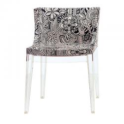 Mademoiselle Chair Structure Transparent Missoni fabric