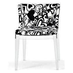 Mademoiselle cadeira Estrutura Transparente Tecido Moschino