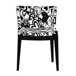 Mademoiselle chaise structure noire Tissu Moschino