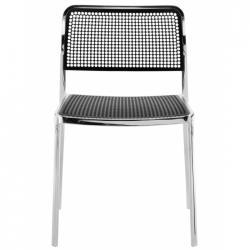 Audrey Shiny chaise sans bras Aluminium Brillant intérieur/de plein air (2 unités d´emballage)