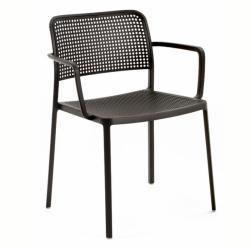 Audrey chaise avec bras Aluminium verni (2 unités d´emballage)