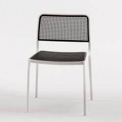 Audrey Shiny chaise sans bras Aluminium Brillant pour intérieur (2 unités d´emballage)