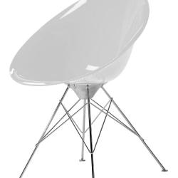 Eros chair with Structure of steel chromed of four patas