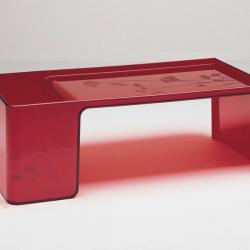 Usame table Transparent Glass 84x20cm