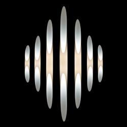 Shakti 200 Aplique fijo En Plexiglas blanco (Enchufe USA)
