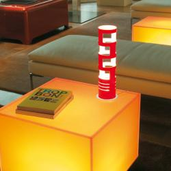 Sama Medium Table Lamp Red