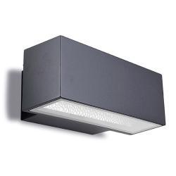Afrodita luz de parede 30x12x17cm 150W Rx7s HID Cinza Urbano