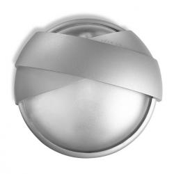 Eclipse Wall Lamp Round 2xE 27 / 2xPL elect E27 80w Grey