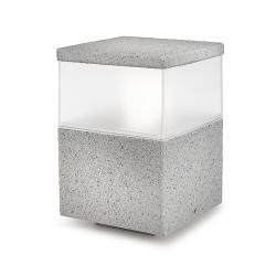 Cubik Lantern 15x15x23cm PL E27 60W Grigio