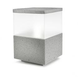 Cubik Sobremuro 20x20x30cm PL E27 gris piedra