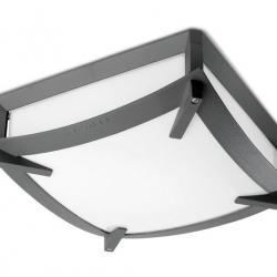Mark Plafón Exterior 30x30x11cm gris Urbano 2xE27 max. 60W