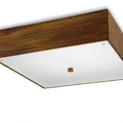 Pérgola lâmpada do teto 40x40x10cm Mader de teca