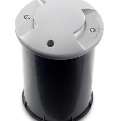 Xena Incasso suelo ø13cm protegido 2 salidas LED 12x0,1w Grigio