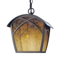 Alba Pendant Lamp Outdoor 22x19x25cm Brown óxido 1xE27 MAX 100W