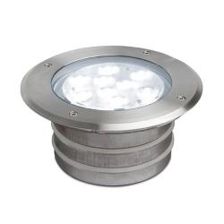 Aqua Recessed swimming Pool ø17x9cm LED 9x1w 6500K IP68 Stainless Steel AISI 316