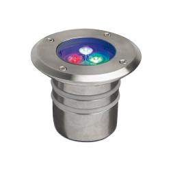 Aqua Recessed swimming Pool ø11x9cm LED 3x1w RGB IP68 Stainless Steel AISI 316