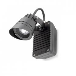 Hubble Wall Lamp Outdoor ø7cm LED 3x3w 4200K Grey Urbano