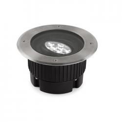 Gea Recessed suelo 18cm LED 9x1w 4200K Stainless Steel AISI 316