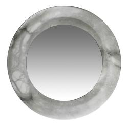 mirror Evolution Round Small white Alabaster white