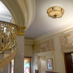 ceiling lamp D500 Austria Patine rojizo Alabaster champan