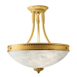 Cobra ceiling lamp Gold Shiny and Satin Alabaster white