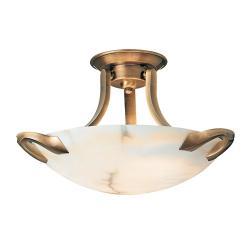 Blanes ceiling lamp Patine rojizo Alabaster white