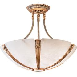 Sir Davenport ceiling lamp Patine rojizo Alabaster white