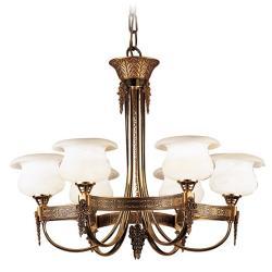 De las Rosas Lamp Gold/Patine rojizo Alabaster white