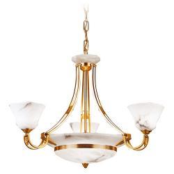 Nilo Lamp Níquel Satin/Oro Alabaster white