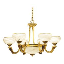 Cobra Lamp Gold Shiny and Satin Alabaster white
